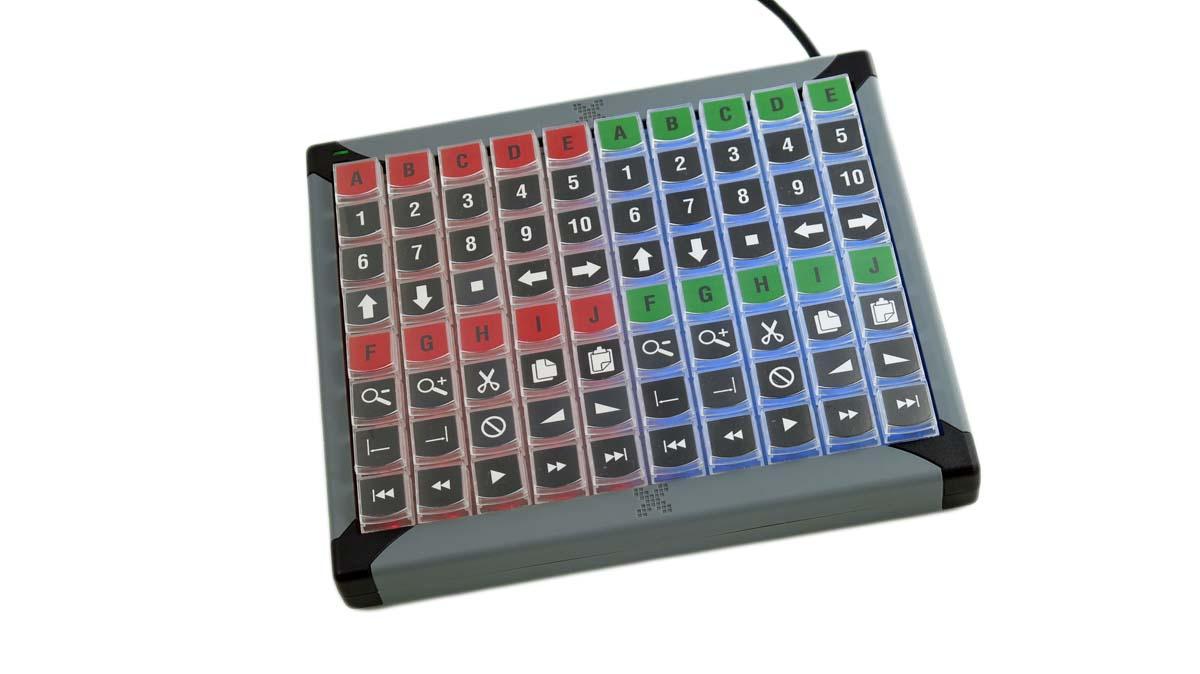 Xkeys Xk 80 Usb Keyboard For Vmix Eastern Shore Broadcasting Numeric X Keys
